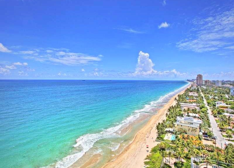 View from a luxury Fort Lauderdale condo for sale here in L'Hermitage