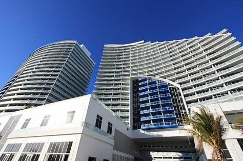 View of Fort Lauderdale oceanfront condominium The W