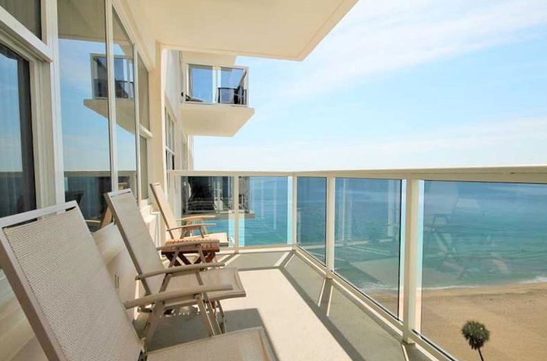 View from a Fort Lauderdale condo in Royal Ambassador on Galt Ocean Mile