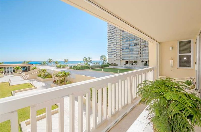 View from one of the Plaza East condos for sale here on Galt Ocean Mile in Fort Lauderdale