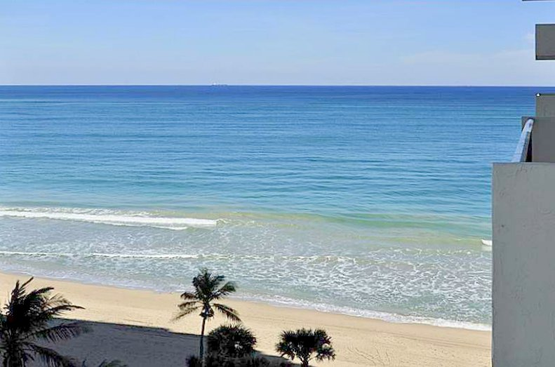 View from one of the Ocean Riviera condos for sale here on Galt Ocean Mile in Fort Lauderdale