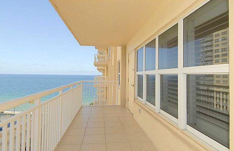 Ocean views from one of the Regency Tower condos for sale Fort Lauderdale