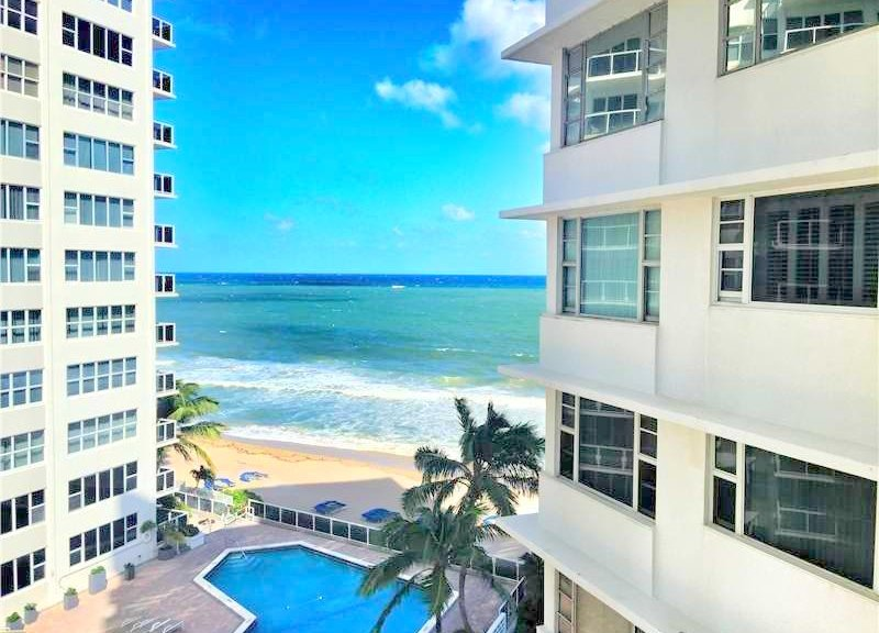 Ocean views from Edgewater Arms condos for sale here in Fort Lauderdale