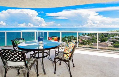 Ocean views from one of The Galt Ocean Mile condos for sale in Fort Lauderdale