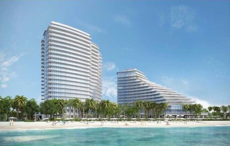 View of new construction Fort Lauderdale oceanfront condos for sale