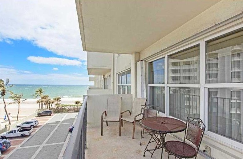Direct oceanfront views from a Galt Ocean Mile condo for sale in Ocean Riviera