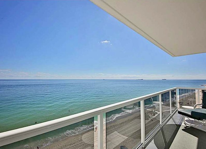 Ocean views from a Fort Lauderdale condo for sale in Royal Ambassador