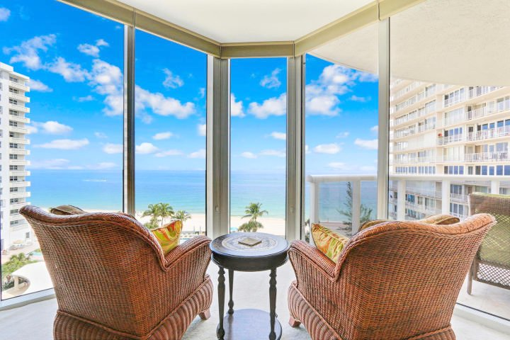 Oceanfront views from L'Ambiance Fort Lauderdale condo for sale 4240 Galt Ocean Dr, Fort Lauderdale, FL