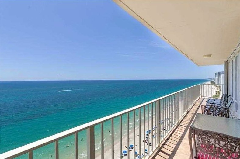View of a Fort Lauderdale oceanfront condo for sale here in The Galleon