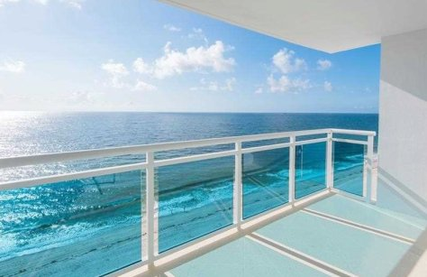 Ocean views from a Galt Ocean Mile condo for sale in The Commodore