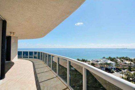 View of Fort Lauderdale pet friendly condo for sale in L''Hermitage on Galt Ocean Mile