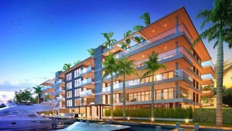 View of luxury Fort Lauderdale condos for sale in Aqualuna