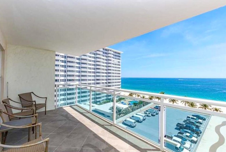 Ocean views from one of the Playa del Mar condos for sale Fort Lauderdale