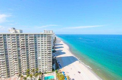 View of Galt Ocean Mile condominiums here in Fort Lauderdale