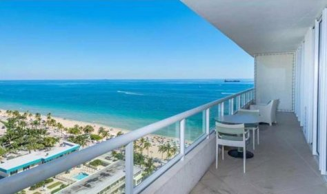 Great views from one of the Fort Lauderdale oceanfront condos currently for sale