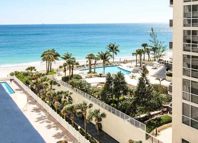 Ocean views from one of the Galt Towers condos for sale Fort Lauderdale