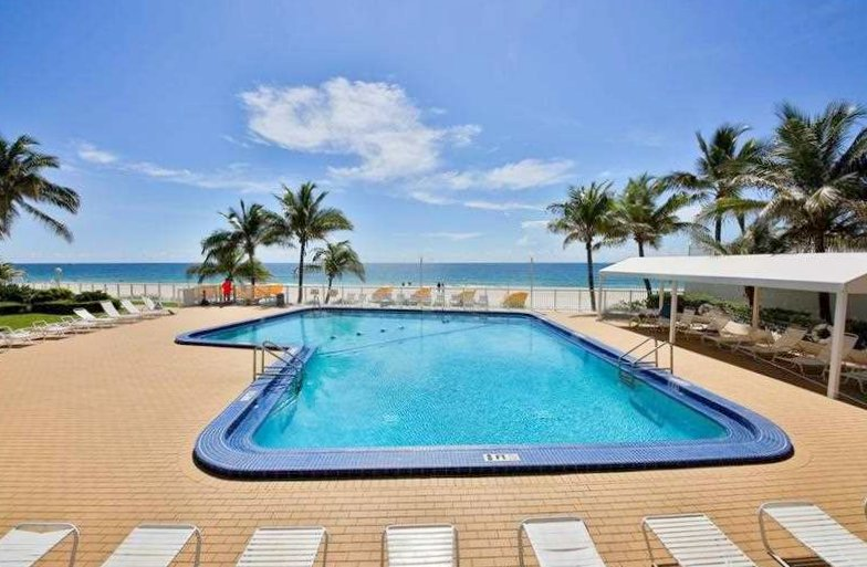 Pool views from one of the Ocean Summit condos for sale Fort Lauderdale