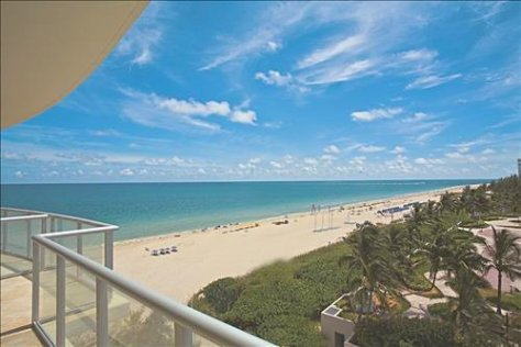 View from a pet friendly Fort Lauderdale oceanfront condo for sale in Coconut Grove