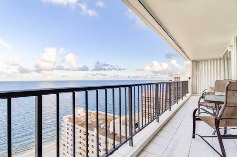 Ocean views from one of the Galt Ocean Mile condos for sale Fort Lauderdale!