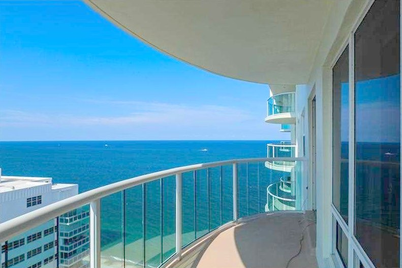 Ocean views from one of the Southpoint condos for sale Fort Lauderdale