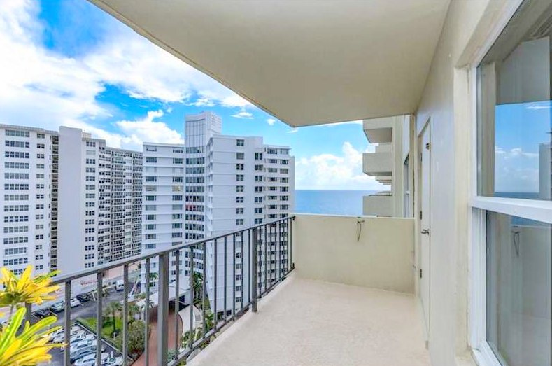 View from one of the Ocean Riviera condos for sale Fort Lauderdale