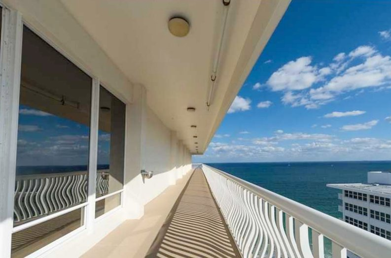 View from one of the Ocean Club condos for sale Fort Lauderdale