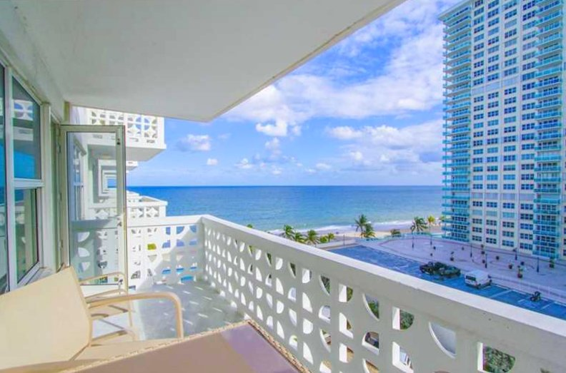 View of one of the Ocean Summit condos for sale Fort Lauderdale
