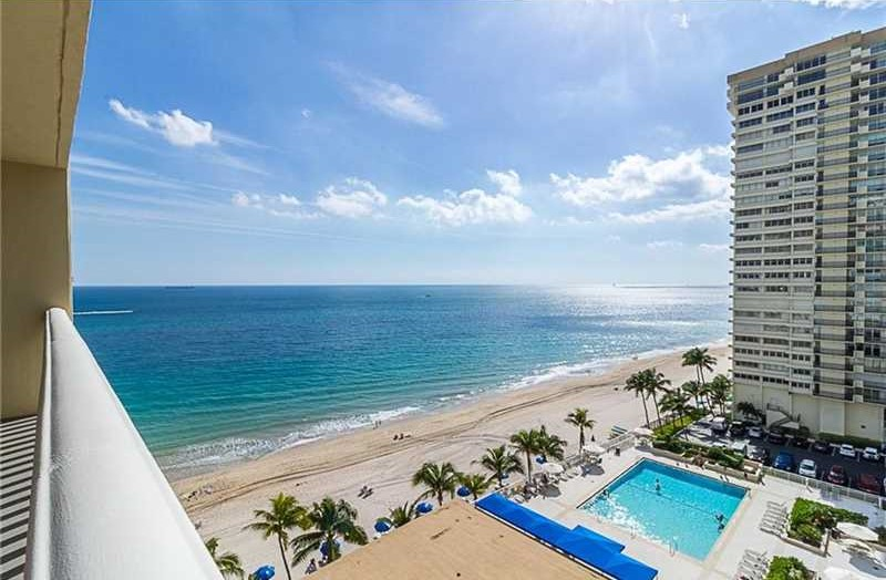 View from one of the Fort Lauderdale condos for sale Plaza East