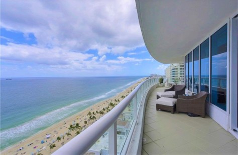 View from a luxury 2 bedroom Fort Lauderdale oceanfront condo for sale in The Ritz Carlton