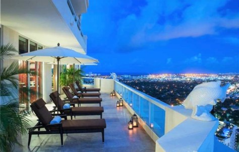 View from luxury Fort Lauderdale penthouse for sale Las Olas Grand