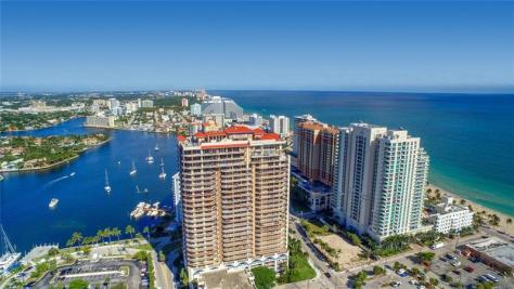 Aerial view of Fort Lauderdale condos