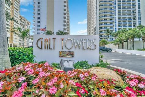 Entrance to Galt Towers Galt Ocean Mile Fort Lauderdale