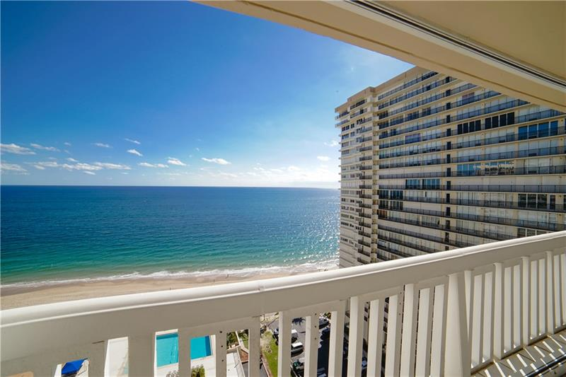 View from one of the Plaza East Galt Ocean Mile condos for sale - 4300 N Ocean Blvd, Fort Lauderdale