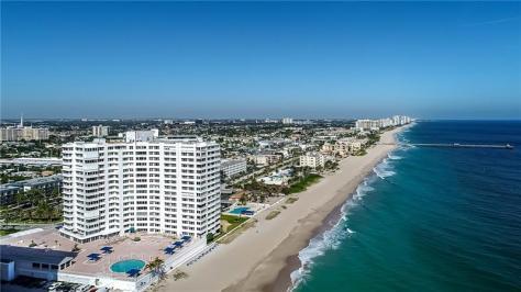 View of Fountainhead condominium 3900 N Ocean Drive Fort Lauderdale