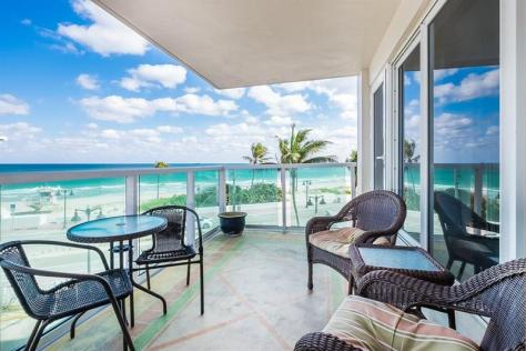View from one of the 2 bedroom Fort Lauderdale oceanfront condos for sale