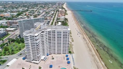 Aerial view Fountainhead condominium 3900 N Ocean Drive Fort Lauderdale FL