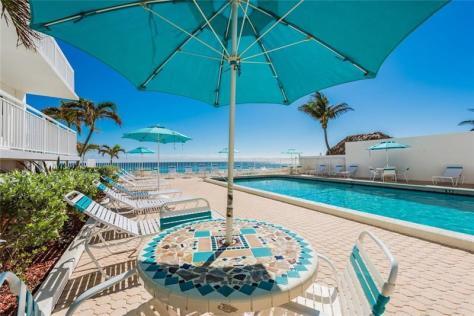 Pool view Regency Tower South 3750 Galt Ocean Drive Fort Lauderdale