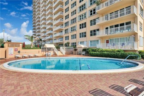 Pool view Galt Ocean Mile condo for sale Regency Tower Fort Lauderdale