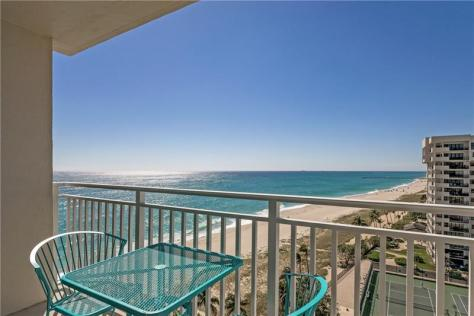 View from a Fort Lauderdale oceanfront condo recently sold here in Fort Lauderdale
