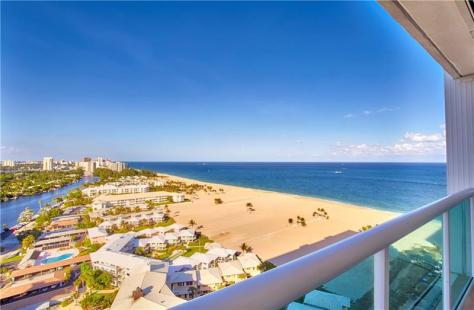 View 2 bedroom Fort Lauderdale oceanfront condo for sale