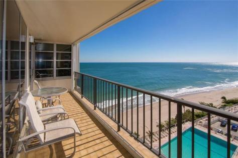 View 2 bedroom Galt Ocean Mile condo sold 2018 Plaza South 4280 Galt Ocean Drive Fort Lauderdale