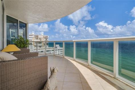 View 3 bedroom luxury Galt Ocean Mile condo recently sold L'Ambiance