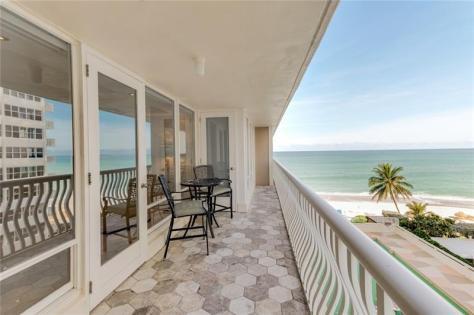 View 1 bedroom Galt Ocean Mile condo recently sold Ocean Club 4020 Galt Ocean Drive Fort Lauderdale Unit 410
