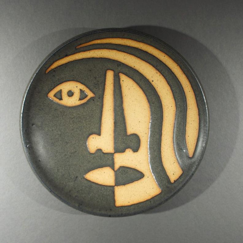 Art Richard Tuck 2011 Face Plate Dark Glaze