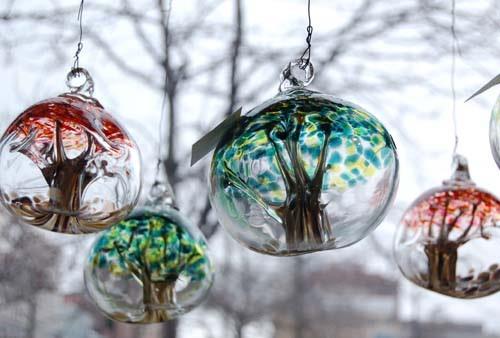 Art John Boyett Glass Tree Globes