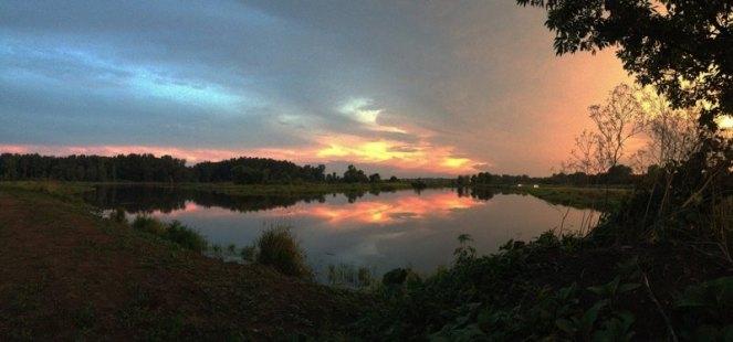 sunset at EM Geisler