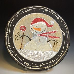 Kristy Jo Beber 2015 Holiday snowmen plaque