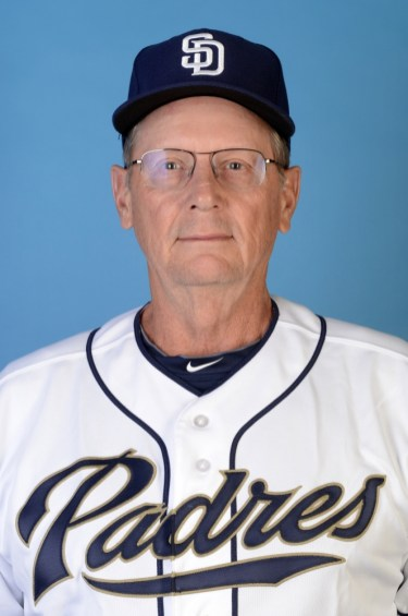PEORIA, AZ - MARCH 9: Burt Hooton of the San Diego Padres Minor League's poses during photo day at the Peoria Sports Complex on March 9, 2013 in Peoria, Arizona. (Photo by Jon Hayt) *** LOCAL CAPTION ***