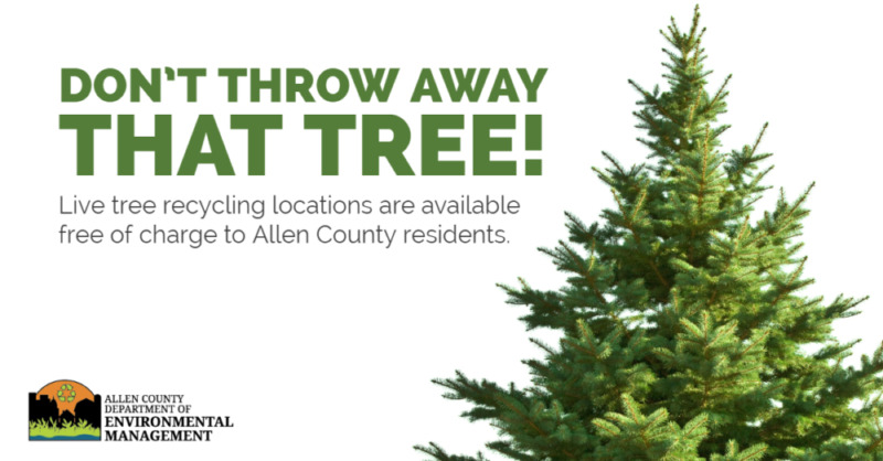 Live Christmas Tree Recycling Begins Dec. 26 In Allen County