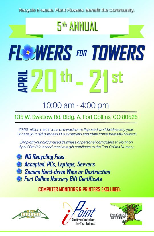 Ipoint S Flowers For Towers Computer Recycling Event